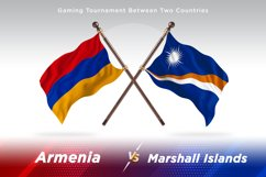 Armenia versus Marshall Islands Two Flags Product Image 1