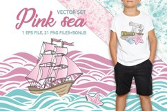 PINK SEA Color Vector Illustration Set Product Image 1
