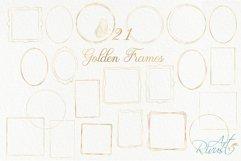 Gold Frame Clipart download. Commercial use. Golden Frames Product Image 3