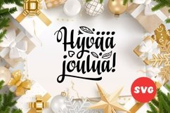 Finnish Christmas in different languages Hyvaa joulua svg Product Image 1