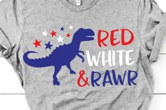 4th of July Dinosaur Svg, Boy Svg for Cricut & Silhouette Product Image 1