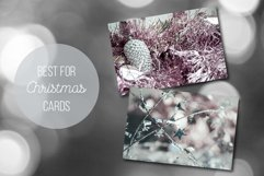 Silver, Pale Pink Christmas Backgrounds Photo Set Product Image 3