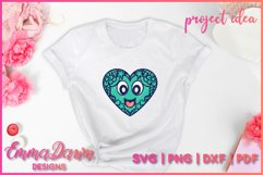 LEXI & LEVI THE LOVE HEARTS SVG 5 MANDALA ZENTANGLE DESIGNS Product Image 4