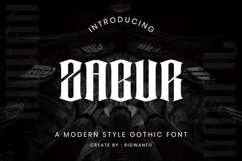 Zabur Font - Modern Gothic Style Product Image 1