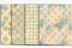 Gold Damask Digital Papers, Grunge, Damask Seamless Patterns Product Image 2