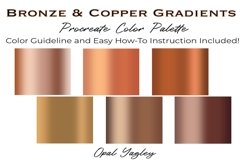 Bronze & Copper Procreate Metallic Color Palette Product Image 2