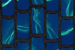 20 Abstract Blue Waves. Technology Backgrounds Set. Product Image 5