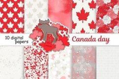 Canada Day PATTERN Fashion Illustration Patriotic USA JPEG Product Image 1