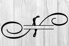N Split monogram SVG Split letter svg Monogram font Product Image 6