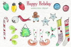 Watercolor Clip Art - Christmas, Holidays Product Image 1