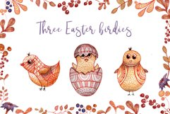 Doodle Easter Watercolor Set Clipart Hand Painted Illustrations Objects Product Image 6
