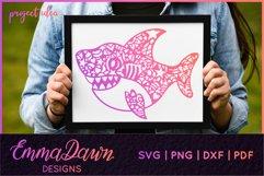 SAMMY THE SHARK SVG MANDALA / ZENTANGLE DESIGN Product Image 8