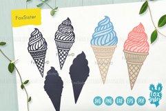 Ice cream svg, desserts svg, Ice Cream Cone svg dxf Product Image 4
