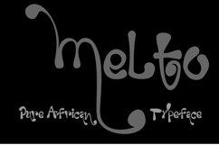 MELTO melting Font Product Image 2