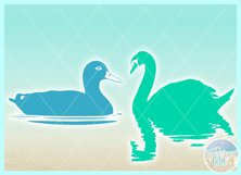 Birds In Water Silhouette Bundle Svg Dxf Eps Png PDF Product Image 8