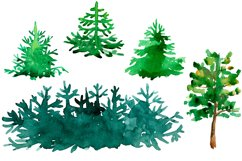 Watercolor Mountains and conifers Product Image 4