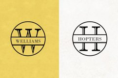 Split Letter Monogram Font Product Image 5