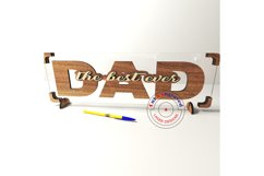 Dad sign vector files, father's day decor. Glowforge ready. Product Image 6