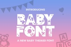 Baby Silhouette Font Product Image 1