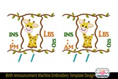 3 sizes Baby Born Announcement Embroidery Template Product Image 2