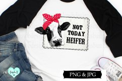 Not Today Heifer Funny Cow Digital Download Product Image 2