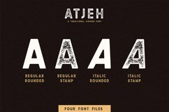 Atjeh - A Traditional Vintage Font | 4 Font Files Product Image 3