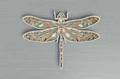 Insect laser cut file - Dragonfly Mandala Product Image 1