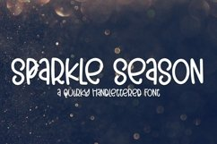 Web Font Sparkle Season - A Quirky Hand-Lettered Font Product Image 1