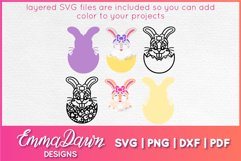 BETTY THE EASTER BUNNY SVG, 2 MANDALA / ZENTANGLE DESIGNS Product Image 3