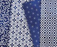Navy Blue Digital Paper Japanese Background Patterns Product Image 5