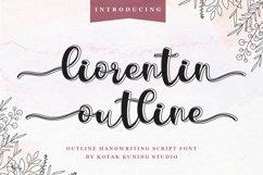 Outline Script Font - Liorentin Outline Product Image 1