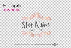 business logo template, elegant floral vintage , logo design Product Image 2