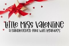 Web Font Little Miss Valentine - A Hand-Lettered Valentine's Product Image 1