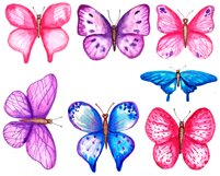 Watercolor butterfly clipart png Product Image 2
