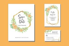 Floral Wedding Watercolor Invitations Set Card SVG Product Image 1