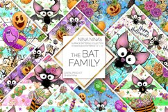 Cute Halloween Seamless Patterns, Bats Digital Papers Pack Product Image 1