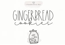 Gingerbread Cookies - A Script Font Duo Product Image 1
