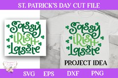 St. Patrick's Day SVG - Sassy Irish Lassie Product Image 1