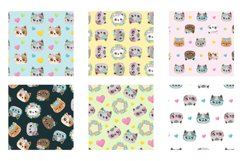 Spring Cats Patterns and illustrations, vector Product Image 3