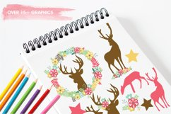 Floral Deers graphics and illustrations Product Image 3