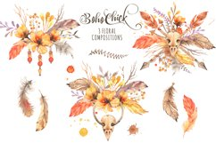 Boho Chick Watercolor Cliparts Product Image 3