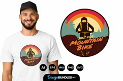 Just Ride Mountain Bike for T-Shirt Design Product Image 1
