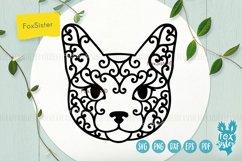Cat face Svg, Dxf, Eps, Png, Pdf cut file Product Image 1