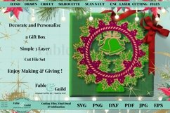 Layered Vintage Wreath SVG Christmas Card Decal 3D Cut File Product Image 6