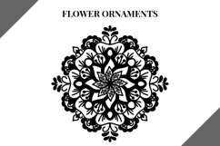 Flower Ornaments svg file, svg bundle, mandala flowers Product Image 1