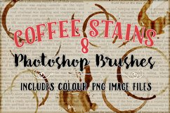 Coffee Stains Photoshop Brushes Product Image 1