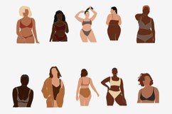 Curvy Woman SVG, abstract clip art, curvy girls, black woman Product Image 5