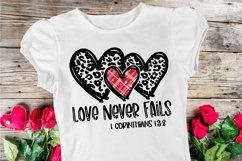 Love Never Fails SVG DXF PNG Product Image 1