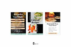 Scroll Stopping Food Blogger Pinterest Pin Pack | Canva Product Image 3