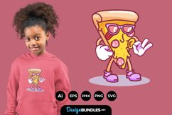 Cool Pizza Illustrations for T-Shirt Design Product Image 1